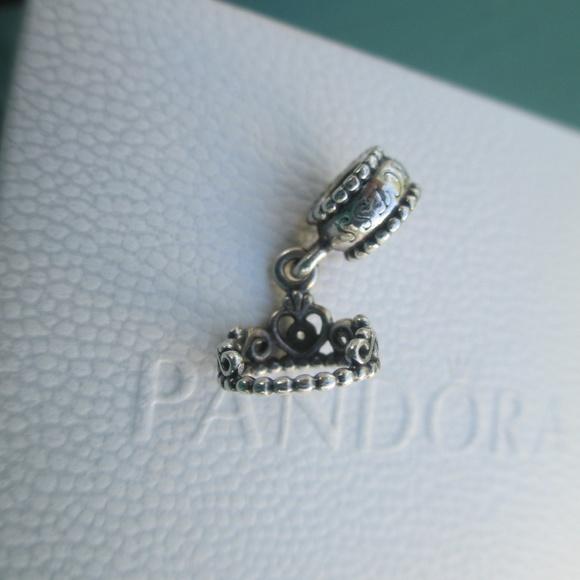 79e971b78 Pandora Jewelry | My Princess Tiara Charm 791117cz Dangle | Poshmark